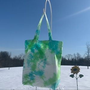 Handmade Tie Dyed Large Tote Overnight Bag